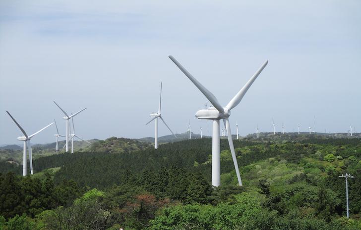 小型風力発電システムのイメージ